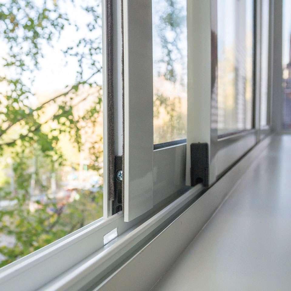 раздвижные и распашные алюминиевые окна