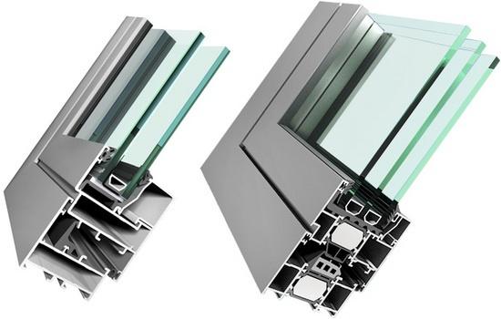 Теплые и холодные алюминиевые окна, отличия и выбор